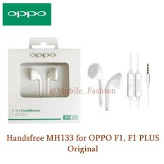 Oppo Handsfree Earphone Headset For Oppo F1 Original / F1 Plus , Stereo Super Bass Original - Putih