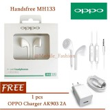 Harga Oppo Handsfree Earphone Headset For Oppo F1 Original F1 Plus Stereo Super Bass Original Putih Free Oppo Charger Ak 903 Ori Online