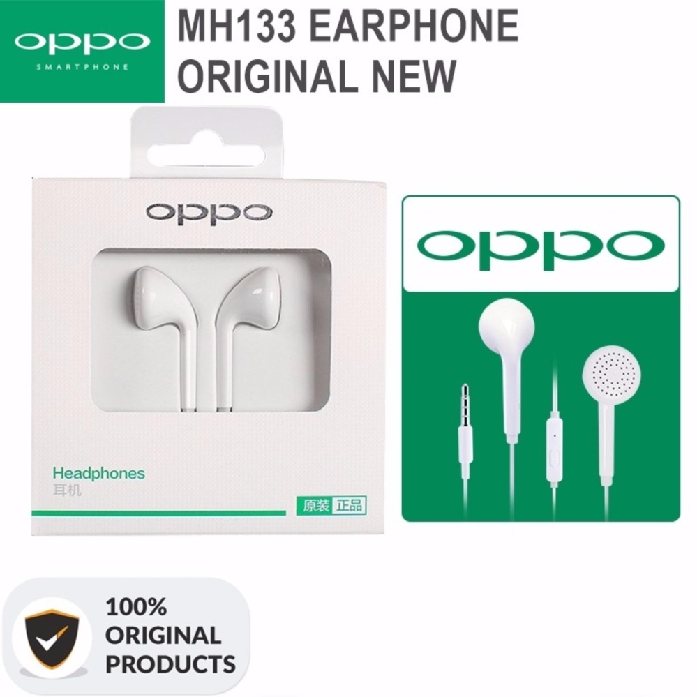Oppo Handsfree Hendset / Earphonne MH133 - Putih