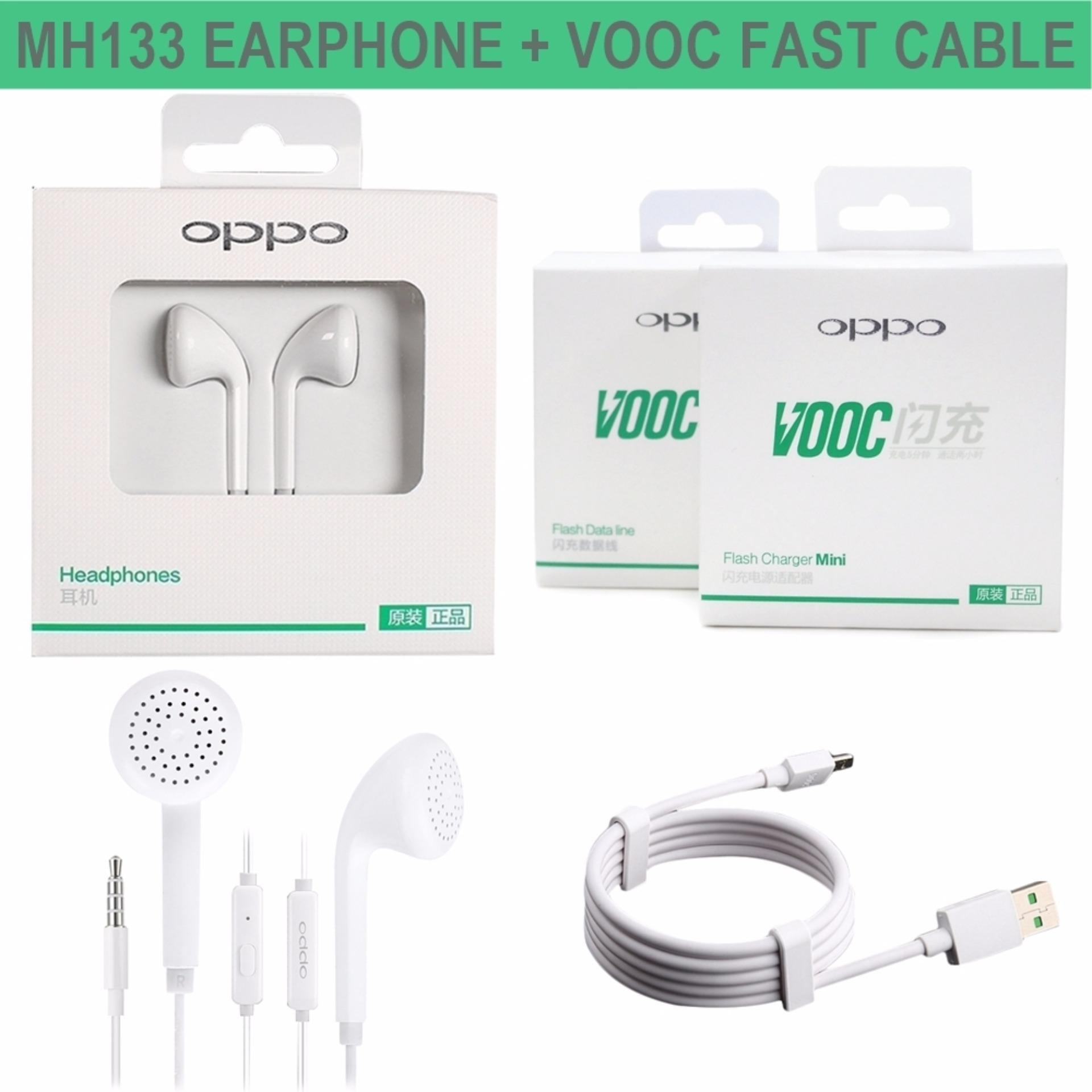 Review Oppo Headset Handsfree Earphone Original Mh133 White Free Kabel Vooc Fash Charging Di Dki Jakarta