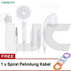 Oppo Headset / Handsfree MH133 for Oppo F1, 37, F1s, F3, A39 + Free Spiral Kabel - Putih