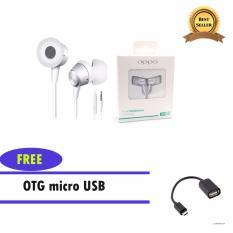 Diskon Oppo Headset Handsfree Oppo Mh130 Bonus Otg Kabel Micro Usb Oppo