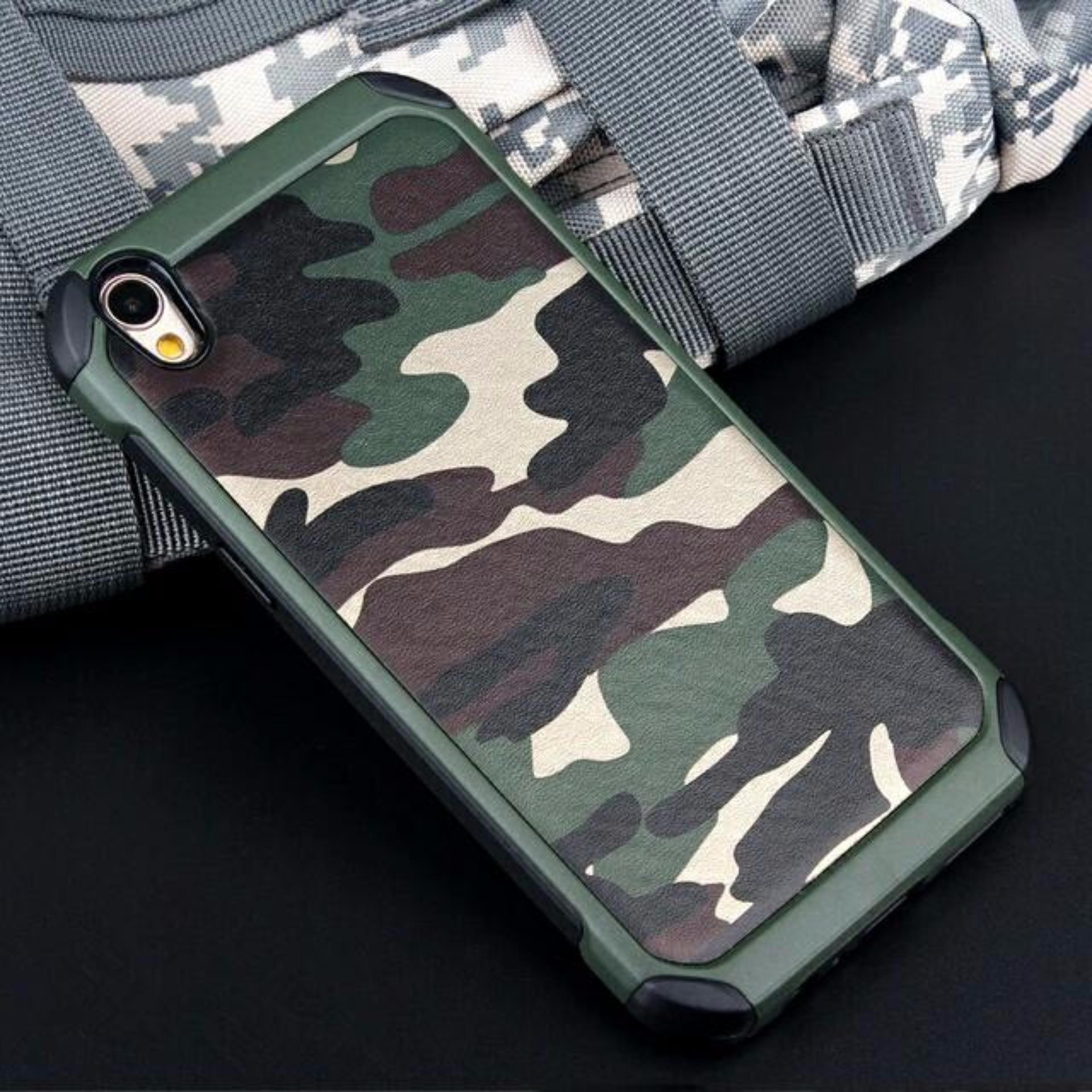 Harga Oppo Neo 9 A37 Case Tough Armor Army Military Hardcase Cover Green Asli