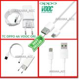 Oppo Original Travel Charger Vooc Fast Charging 5V 4A Colokan Bulat Buat Indonesia Micro 7 Pin Vooc Usb Data Cable White Original