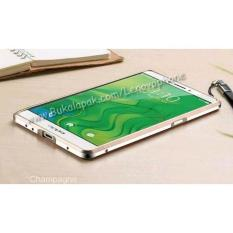 Oppo R7S Shining Stainless Bumper Case Free Temperedglass