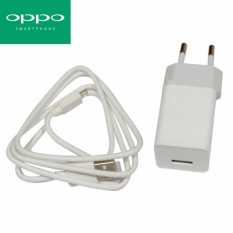 OPPO Travel Adapter Charger Head With Cable Micro USB AK903 Original - Putih