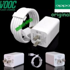 Oppo Vooc Original Travel Charger Fast Charging 5V 4A Kabel Micro Usb Data Cable Putih Oppo Diskon 50