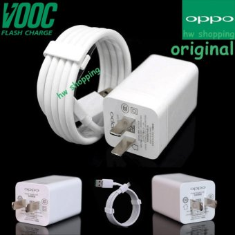 OPPO VOOC Original Travel Charger Fast Charging 5V 4A Kabel Micro USB Data Cable Putih