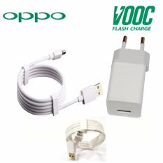 Harga Hemat Oppo Vooc Original Travel Charger Fast Charging 5V 4A Kabel Micro Usb Data Cable Putih