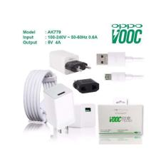 Daftar Harga Oppo Vooc Original Travel Charger Output 5V 4A Fast Charging Kabel Micro Usb Putih