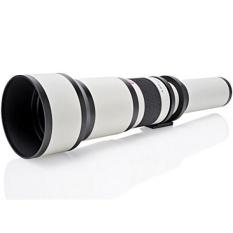 Opteka 650-1300mm (dengan 2x-1300-2600mm) Telephoto Zoom Lensa untuk Canon EOS 7D, 6D, 5D, 5Ds, 1Ds, 80D, 70D, 60D, 60Da, 50D, 40D, T6s, T6i, T6, T5i, T5, T4i, T3i, T3, T2i dan SL1 Digital SLR Kamera-Internasional