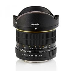 Opteka 6.5mm F/3.5 Fisheye Lens untuk Nikon D7500, D7200, D7100, D7000, D5500, D5300, D5200, D5100, D3400, D3300, D3200 dan D3100 Digital SLR Kamera-Internasional