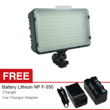 Promo Optic Pro Led 168 Video Light For Camera Dslr Canon Nikon Camcorder Free Battery Dan Charger Di Jawa Barat