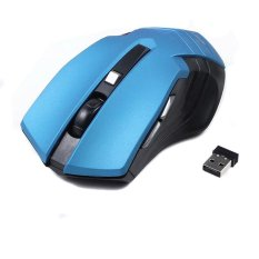 Optik Mouse Nirkabel Komputer Mouse USB 2.4G Receiver 6 Tombol Mouse Gamer Desain Ergonomis 10 M Rentang Kerja- INTL