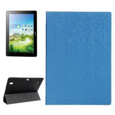 Oracle Texture Magnetic Leather Case with Three-folding Holder for Huawei MediaPad 10 Link / S10-201(Blue) - intl