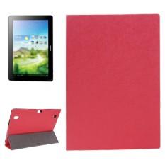 Oracle Tekstur Magnetic Leather Case dengan Tiga-lipat Pemegang untuk Huawei MediaPad 10 Link/S10-201 (Merah) -Intl