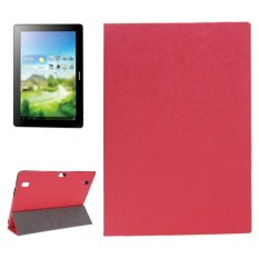 Oracle Texture Magnetic Leather Case with Three-folding Holder for Huawei MediaPad 10 Link / S10-201(Red) - intl