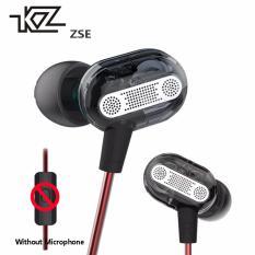 Asli Kz Zse Dual Driver Dinamis Pemantauan Kebisingan Membatalkan Stereo Di Telinga Monitor Headset Hifi Earphone With Mikrofon For Ponsel Kz Diskon 30