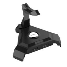 Orico LH4-U2 Mouse Manajemen Kabel 4 Port USB2.0 Hub untuk Laptop/Ponsel Pintar, Tanpa Daya Adaptor (Hitam) -Internasional