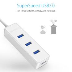 ORICO W5PH4-U3 USB 3.0 4 Port HUB 5 Gbps Kecepatan Tinggi untuk Laptop Komputer Ponsel Tablet Ultrabook dengan Vl812 Chipset -hitam/Putih