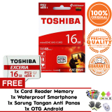 Review Pada Original 100 Toshiba Micro Sd 16Gb Exceria Uhs 1 Class 10 48Mb S Free Sarung Tangan Card Reader Otg Android Waterproof