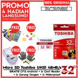 Jual Original 100 Toshiba Micro Sd 32Gb Exceria Uhs 1 Class 10 48Mb S Free Sarung Tangan Card Reader Otg Android Waterproof Murah Indonesia