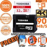 Jual Cepat Original 100 Toshiba Micro Sd 90Mb S 4K Action Cam Gopro Smartphone Class10 Uhs 3 Gratis Antivirus Mc Afee Pop Socket Sim Card Adapter