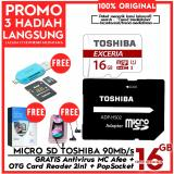Review Original 100 Toshiba Micro Sd 90Mb S 4K Action Cam Gopro Smartphone Class10 Uhs 3 Gratis Antivirus Mc Afee Pop Socket Otg Card Reader 2In1 Dki Jakarta