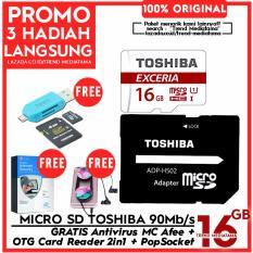 Jual Original 100 Toshiba Micro Sd 90Mb S 4K Action Cam Gopro Smartphone Class10 Uhs 3 Gratis Antivirus Mc Afee Pop Socket Otg Card Reader 2In1 Lengkap