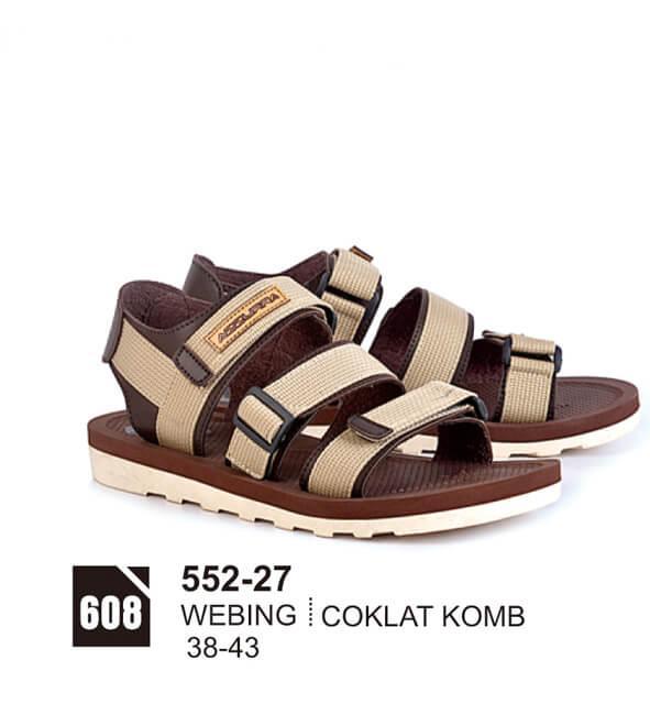 Original Azzurra  Jual Sandal Gunung / Adventure Pria 552-27  Warna : Coklat Komb  Terbuat dari Bahan : Webing