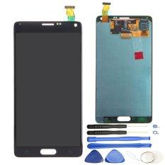 Asli LCD Hitam Layar Sentuh Digitizer untuk Samsung Galaxy Note 4 N910F N910A N910P N910T-Intl