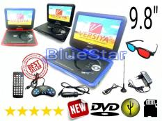 ORIGINAL  DVD PORTABLE LED 9.8 inch USB - SD Card - TV Tuner