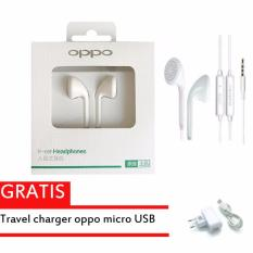 Beli Original Handsfree Oppo Mh133 White Earbud Handsfree Earphones Gratis Oppo Travel Charger Oppo
