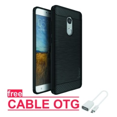 Original ipaky Back Case for xiaomi redmi Note 3 Pro - Black - Free cable OTG