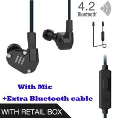 Harga Asli Kz Zs6 Earbud 2Dd 2Ba Hybrid Earphone Hi Fi In Ear Metal Headphone Dj Monitor Headset Earphone Dengan Mcrophone Blueteeth Kabel Untuk Ponsel Pk Zs5 Zst Intl