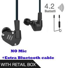 Beli Asli Kz Zs6 Earbud 2Dd 2Ba Hybrid Earphone Hi Fi In Ear Metal Headphone Dj Monitor Headset Earphone Tanpa Mcrophone Blueteeth Kabel Untuk Ponsel Pk Zs5 Zst Intl Online Murah