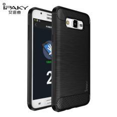 Original Lazada Case Ipaky Shockproof Carbon Hybrid For Samsung Galaxy J1 Ace / J110 - Hitam