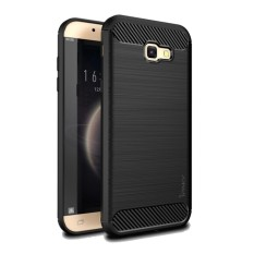 Original Lazada Case Ipaky Shockproof Carbon Hybrid For Samsung Galaxy J7 Prime - Hitam