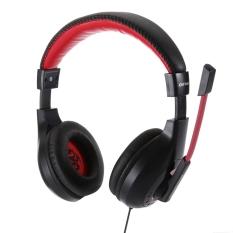 Asli OVANN X4 Wired Gaming Headset dengan Mikrofon Mendukung Kontrol Volume 3.5mm Audio Jack untuk Komputer Ponsel Hitam -Intl