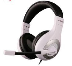 Asli OVANN X4 Wired Gaming Headset dengan Mikrofon Mendukung Kontrol Volume 3.5mm Audio Jack untuk Komputer Ponsel Putih -Intl