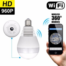 Asli Owlview Wireless Light Bulb IP Camera Wi-fi FishEye 960 P 360 Derajat Mini