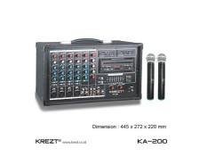 ORIGINAL Portable Amplifier System Audio Mixer Krezt KA 200