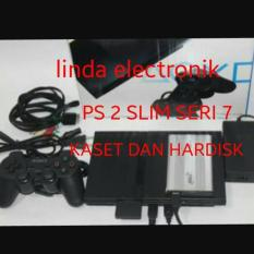 ORIGINAL PS 2 SLIM SERI 7 KASET DAN HARDISK 40GB