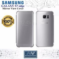 Harga Original Samsung Clear View Cover Galaxy S7 Edge Case Mirror Fullset Murah