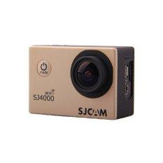 Asli SJCAM SJ4000 WIFI Mini DV Helm CamcorderGorproHero4sport Tindakan Kamera Mengendarai Perekam untuk MOTO/Sepeda Mobil DVR Emas-Intl