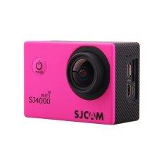 Asli SJCAM SJ4000 WIFI Mini DV Helm CamcorderGorproHero4sport Tindakan Kamera Mengendarai Perekam untuk MOTO/Sepeda Mobil DVR Pink-Intl