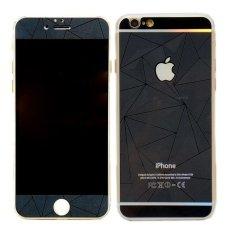 Original Tempered Glass Protector 3D Diamond Colour for Iphone 6,6s - Hitam