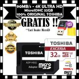 Jual Original Toshiba 90 Mb S 32Gb 4K Action Cam Micro Sd Memory Card Class 10 Uhs 1 Gratis Card Reader Microsd Import