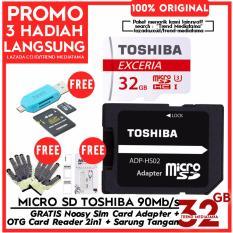 Harga Original Toshiba Micro Sd 90 Mb S Class 10 Uhs 3 Gratis Otg Card Reader Memory Sarung Tangan Sim Card Adapter 4K Action Cam Dki Jakarta