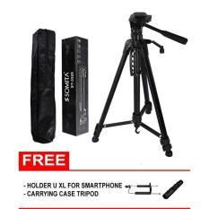 ORIGINAL Tripod Kamera DSRL, Kamera Digital, Video Kamera, Kamera Action GoPro, HP Smartphone Somita